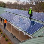 shinko Solar and Boreholes Man at work