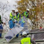 15 Solar Panels being Installed at Harare Police Station